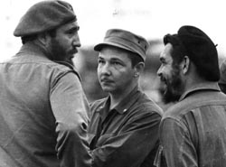Fidel Castro, Raúl Castro y Che Guevara