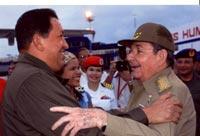 Chávez fue despedido por el presidente cubano Raúl Castro