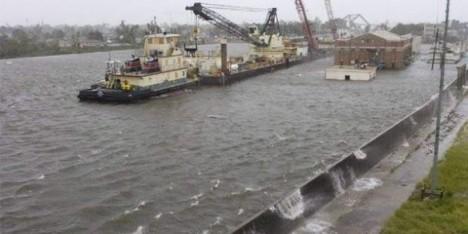 Rios y diques están rebalsados.