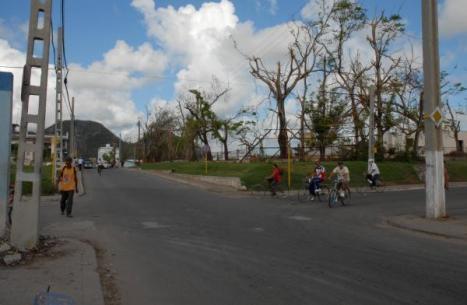Calle 32 después de la tormenta