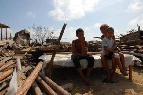Cientos de familias perdieron sus viviendas en la Isla de la Juventud tras el paso de Gustav