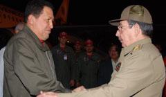 Raúl Castro despidió al mandantario Venezolano