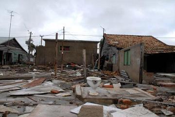 Decenas de viviendas desaparecieron