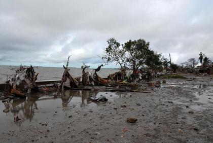 En Santa Cruz del Sur el mar penetro más de tres kilómetro tierra adentro