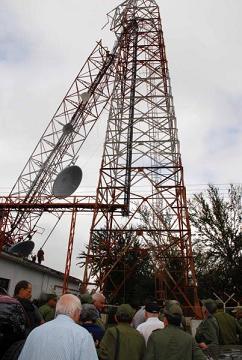 Los vientos partieron la torre de comunicaciones de la localidad