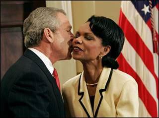 W. Bush y C. Rice