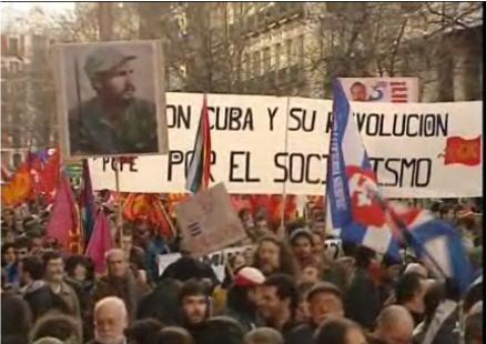 Cientos de personas participaron en la marcha de apoyo a Cuba en Madrid