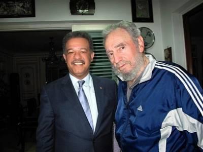 Fidel Castro y Leonel Fernández