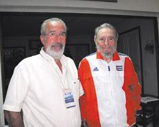 Fidel con Boron durante su encuentro del sábado 7 de marzo