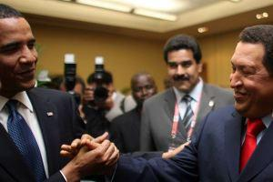 Chávez y Obama se saludan en la Cumbre de la OEA