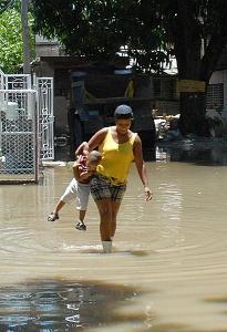 Inundaciones en varios lugares de la ciudad de Santiago de Cuba