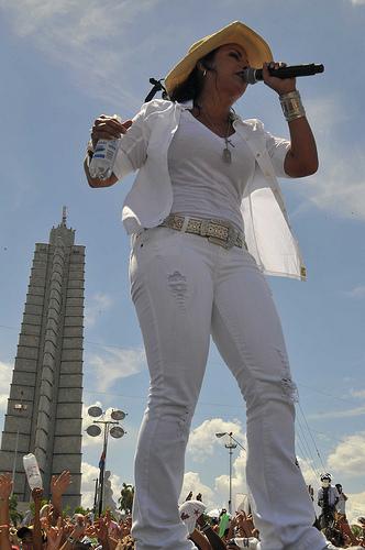 Olga Tañón en concieto Paz sin Fronteras, en La Habana