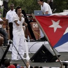 Juanes en su concierto Paz sin Frontera en La Habana