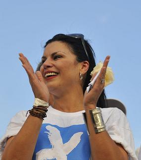 Olga Tañón durante el concierto Paz sin Fronteras en La Habana. Foto: Legañoa