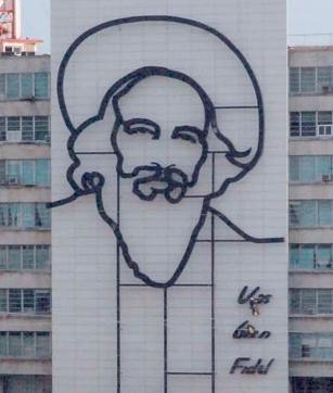 Imagen de Camilo Cienfuegos en la Plaza de la Revolución en Cuba