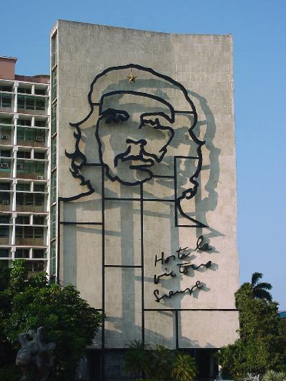Imagen del Che en la Plaza de la Revolución en La Habana