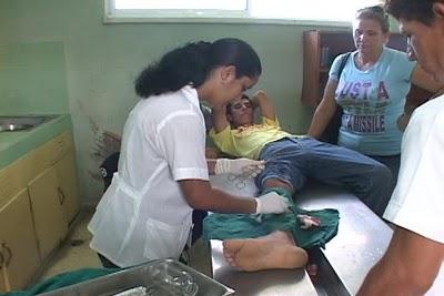 Yuniet Rodríguez recibió una pedrada que le provocó una herida de 6 centímetros de largo.