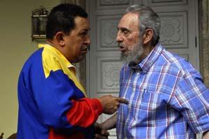 Hugo Chávez y Fidel Casto en La Habana